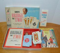 VINTAGE BRIDGE FOR TWO CARD GAME 1964 MILTON BRADLEY GOREN'S COMPLETE WI... - $9.46