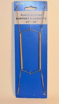 """Onward Hardware 11"""" to 18"""" Brass Plated Plate Hanger - $6.44"""