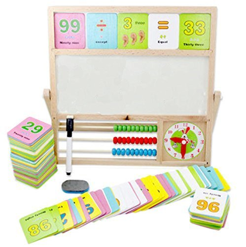 Multifunction Babies' Learning Education Recognition Wooden Computation Frame