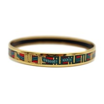 Hermes enamel PM bangle bracelet gold multi-color Ladies Auth - $472.48