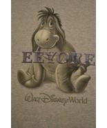 Disney World Eeyore T-Shirt Winnie The Pooh Raised Letters Size Medium - $12.86