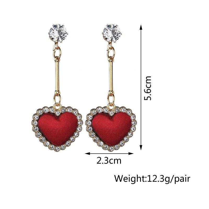 BAHYHAQ - Black Rhinestone Bowknot Stud Earrings Crystal Earring Jewelry Bijoux
