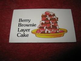 1983 Strawberry Shortcake Housewarming Surprise Board Game Part: Recipe Card #7 - $1.00
