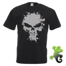 Vintage The Punisher Skull Logo Mens T-Shirt - Frank Castle Marvel Dared... - £8.78 GBP+