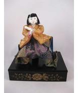 Antique Japanese Gofun Hina Doll Silk Fabric - $15.00