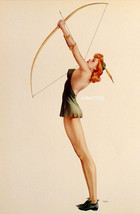 VARGAS PETER PAN & NUDE IN BLACK LINGERIE PIN-UP GIRL PRINT FROM 1941 PA... - $14.49