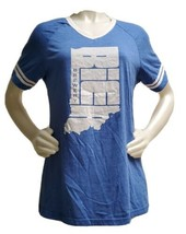 Bier Brewery T Shirt Indianapolis IN Blue 84 Women XL USA Tee  - $19.59