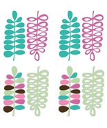 Warehouse USA Espirit Wall Stickers Pink Leaves Die-Cut Accents - $24.49