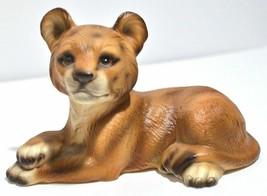 Lion Cub Figurine Wild Cat Zoo Safari Vintage UCGC Japan UCAGCO Rare - $18.37
