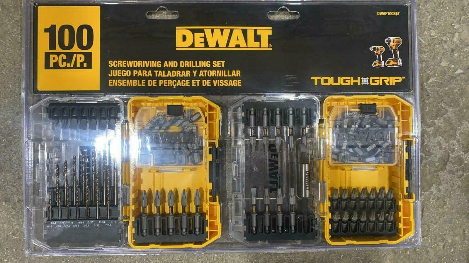 Toughgrip 100-Piece Shank Screwdriver Bit Set. DEWALT.  We ship overseas - $39.59