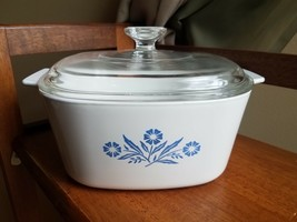 Corning Ware 3 Quart Blue Cornflower Casserole Dish w/ Pyrex Lid A3B - $30.81