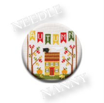Autumn Banner Needle Nanny cross stitch Country Cottage Needleworks    - $12.00