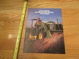 John Deere Hydrostatic Diesel Tractors Vintage Dealer sales brochure - $15.99