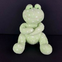 "Russ Berrie Baby Froggles Green Plush Frog Stuffed Animal Polka Dot 11""  - $17.81"
