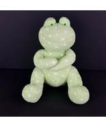 "Russ Berrie Baby Froggles Green Plush Frog Stuffed Animal Polka Dot 11""  - $17.81"