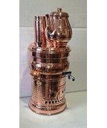 Copper Turkish Samovar with Copper Teapot Tea Maker Kettle & Pot Free En... - $244.83