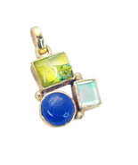 Fashion Gold Plated Multi lapis Gemstone Pendant Jewelry FMU19JJP64 - $10.89