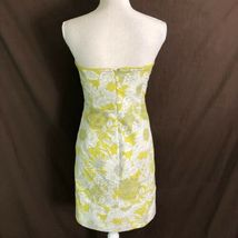 J Crew Women's Dress Printed Erica Strapless Floral Yellow Cotton Size 6 $275 image 5