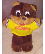 "Vintage SHONEY BEAR Plush with shirt from 1995 10"" Tall - $9.96"