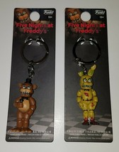 NEW 2 Five Nights At Freddy's Funko Collectible Keychains Spring Trap Fr... - $15.79