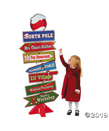 Deluxe Giant North Pole Directional Sign - 5 Feet Tall!  - $31.24