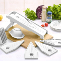 Mandoline Slicer Vegetable Cheese Food Cutter 5 Stainless Steel Blades K... - $19.62