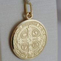 Pendant Yellow Gold Medal 750 18k, Protection, ST. BENEDICT, CROSS, SOLID image 3