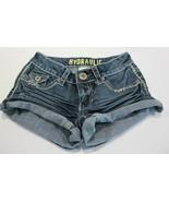 Hydraulic Junior Women Size 0 Low Rise Distressed Cuffed Jean Shorts - $11.69