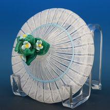 Vintage Murano Glass White Zanfirico Covered Candy Box or Dresser Jar c.1950 image 7