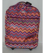 Hadaki Brand HDK879 Multi Color Chevron Plane Hopping Roller Suitcase - $150.00