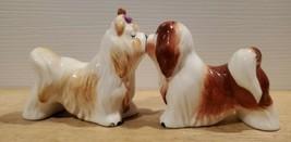 MAGNETIC KISSING SALT & PEPPER SHAKERS Lhasa Apsos by Westland - $9.74