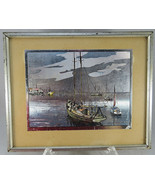 VTG Color Foil Lionel Barrymore QUIET WATERS Picture on Original Matted ... - $45.00