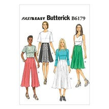 Butterick Patterns B6179E50 Misses' Skirt and Culottes Sewing Template, ... - $14.70