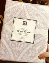 Pottery Barn Teen Izzi Rings Duvet Cover Blush Queen 2 Standard Shams Pi... - $158.00