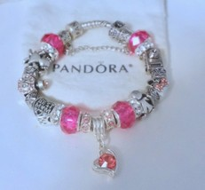 Pretty in Pink Mom  - Authentic Jared Pandora bracelet - $129.00