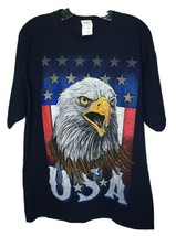 USA Eagle T Shirt Fruit of the Loom Large HD Cotton - $14.99