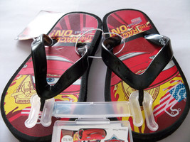 New Disney Pixar Cars Little Boys sz L (9-10)  Flip-Flops Lightning McQueen - $5.88