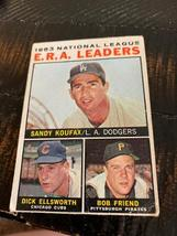 1- 1964 Topps #1 1963 NL ERA Leaders Sandy Koufax & Others Baseball Card - $29.00