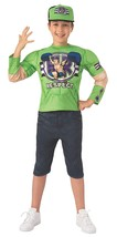 John Cena Green WWE Pro Wrestler Fancy Dress Up Halloween Deluxe Child C... - $46.14