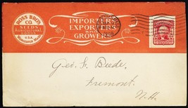 Seeds & Agricultural Goods With Stamp Collar 1908 Advertising Cover Stua... - $75.00