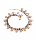 New arrival 2015 women shining crystal pink lovely pure clear accessories necklace 2 thumbtall