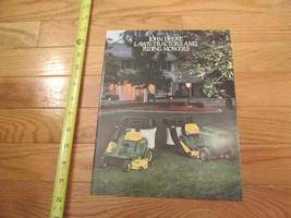 John Deere Lawn Tractors Riding Mowers Vintage Dealer sales brochure 28 - $14.99