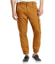 Levi's Men Banded Cargo Chino Jogger Stretch Pants Slim Fit Khaki 246750002