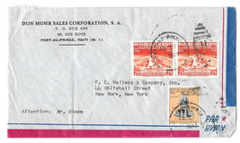 Haiti 1957 Air Mail Cover Port au Prince Duplex H Cancel to US Sc# C93 401  - $4.99