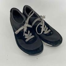 Dansko Low Gray Black Tie Sneaker womens 39 - $16.25