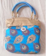 Blue Women Handbag Tote Fashion Handmade Weddin... - $11.29