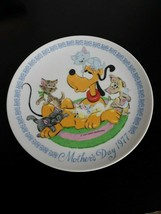 Vintage Walt Disney 1977 Mother's Day Plate with Pluto by Schmid with box - $17.11