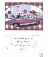 THE BAY CITY ROLLERS SIGNED AUTOGRAPHED RP 6x9 PROMO - $16.99