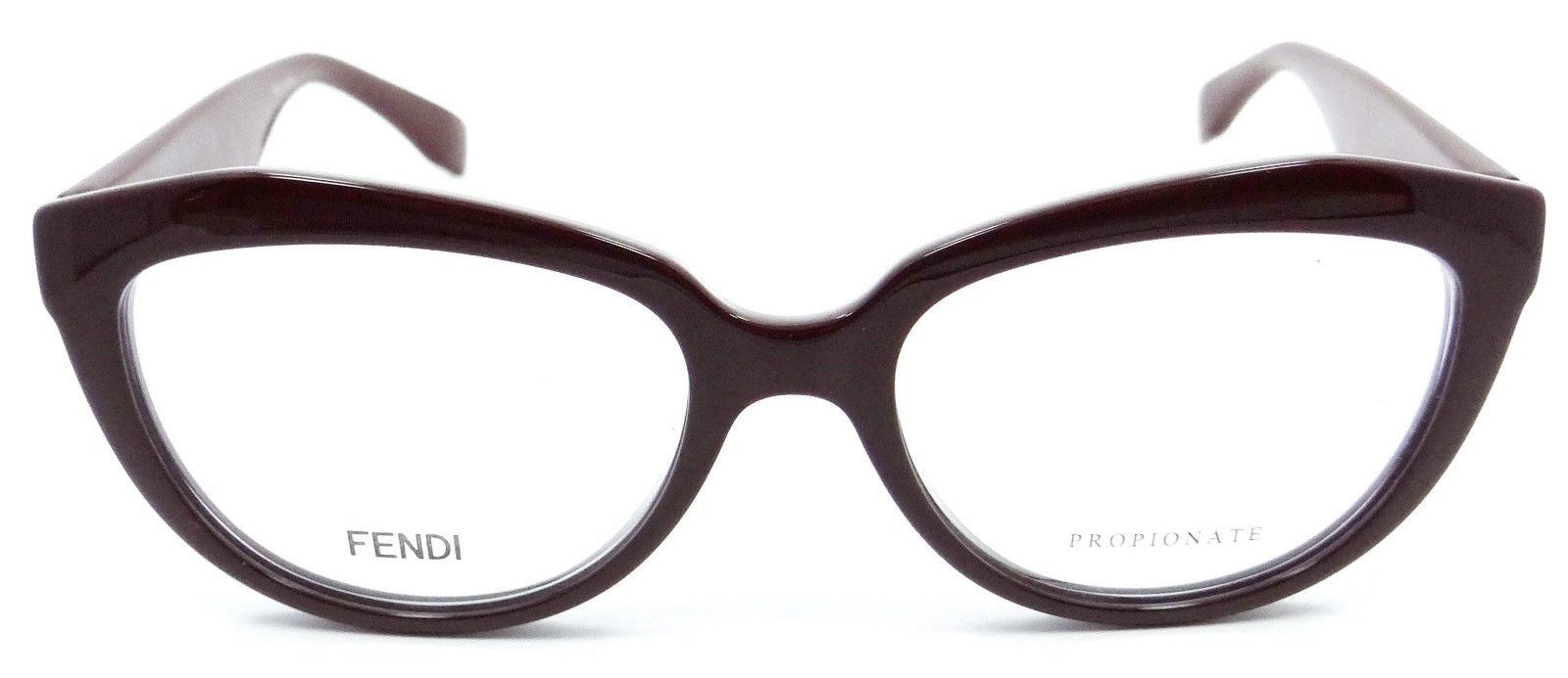 404fee7c91b Fendi Rx Eyeglasses Frames FF 0020 COI 52-17-140 Opal Burgundy Made in