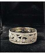Neil Lane Engraved 1ct Diamond Pave 8mm Wide Gold Wedding Anniversary B... - $2,420.15